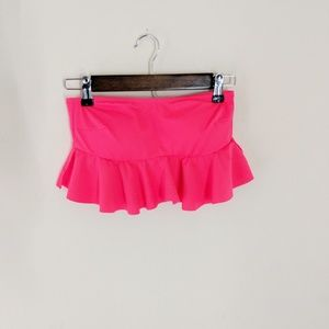 Victoria's Secret PINK Ruffled Bandeau Swim Top